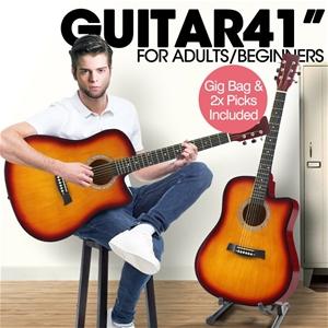 "BoPeep 41"" Wooden Acoustic Guitar Classi"