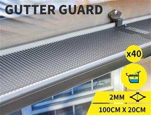 40m Aluminium Gutter Mesh Guard Leaf Gar