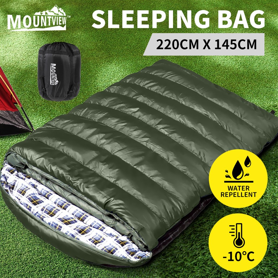 Mountview Sleeping Bag Double Bags Outdoor Camping Hiking Thermal -10? Tent