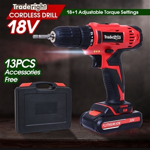 Traderight 18V Cordless Drill Driver Pow