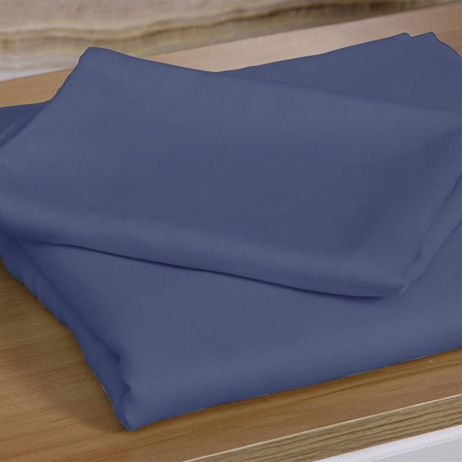 DreamZ 4 Pcs Natural Bamboo Cotton Bed Sheet Set Size Double Bluish Grey