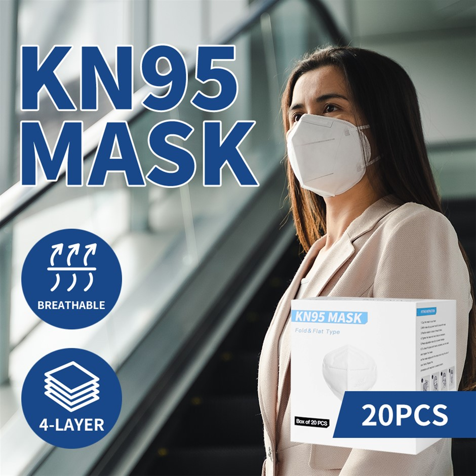 N95 KN95 Mask Face Masks Reusable Respirator Filter Disposable AntiDust x20