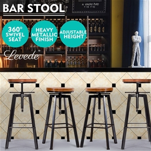 4x Levede Industrial Bar Stools Kitchen