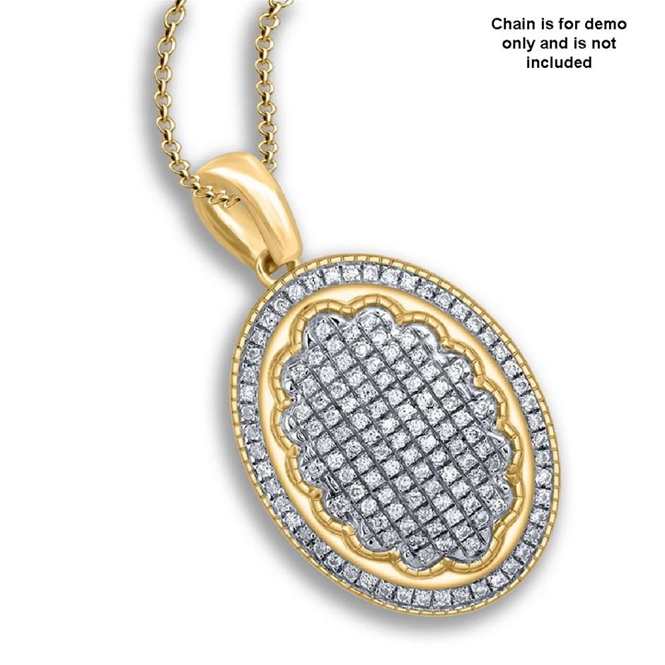 9ct Yellow Gold, 0.19ct Diamond Pendant