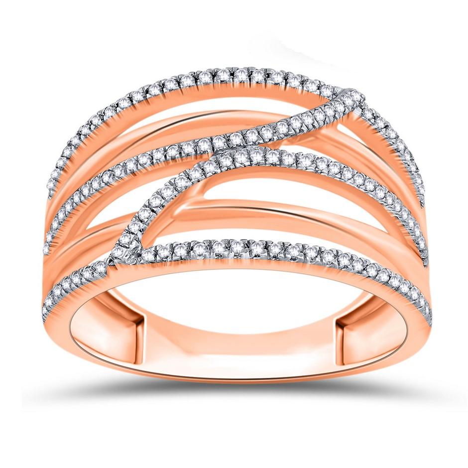 9ct Rose Gold, 0.21ct Diamond Engagement Ring