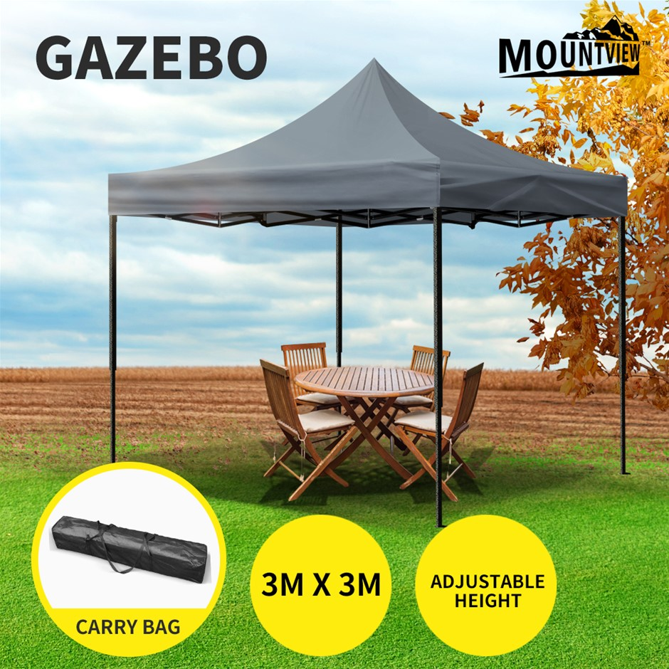 Mountview Gazebo Tent 3x3 Outdoor Marquee Gazebos Camping Canopy Folding