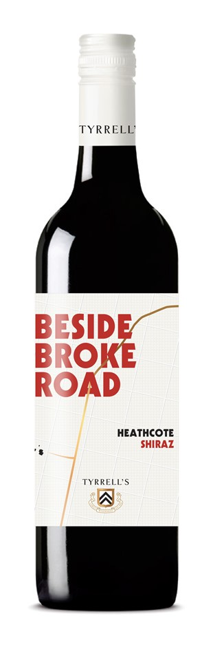 Tyrrell's `Beyond Broke Road` Shiraz 2018 (6 x 750mL) Hilltops, NSW