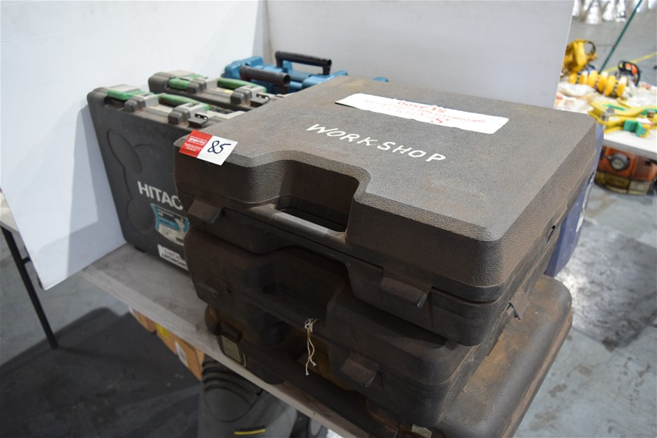 Lot of 9 Empty Power Tool Storage Boxes