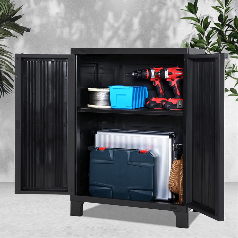 Gardeon Outdoor Storage Cabinet Cupboard Lockable Garden Sheds Adjustable