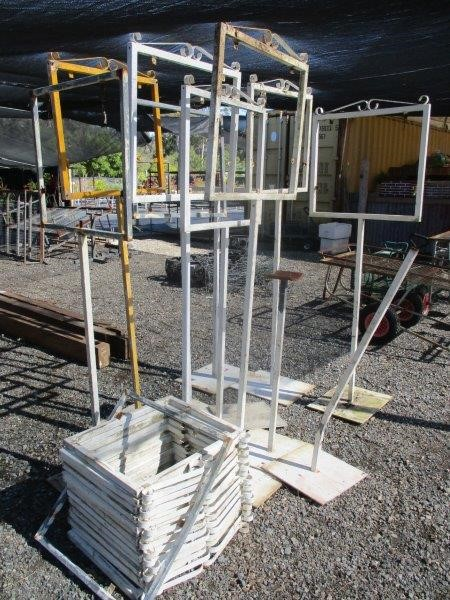11 x Signage Stands Steel