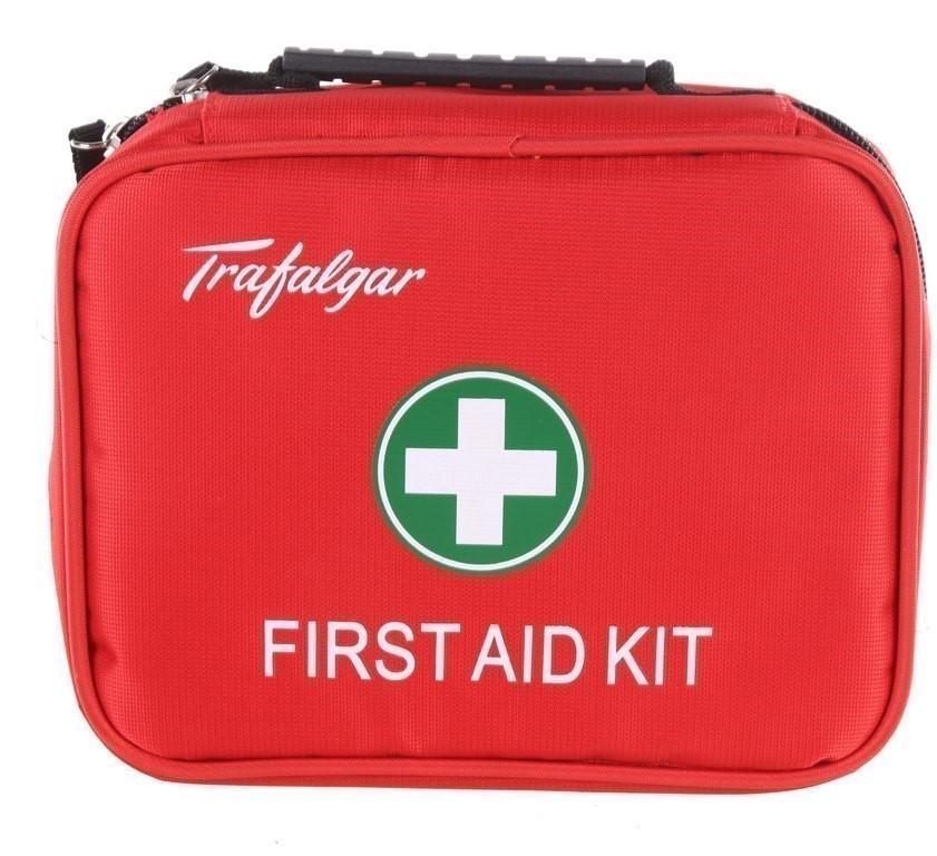 3 x TRAFALGAR 126pc Family First Aid Kits in Nylon Zip Carry Bag. (SN:10128