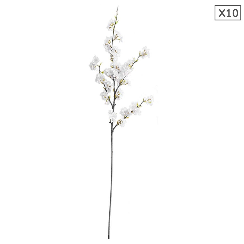 SOGA 10x Artificial Silk Flower Fake Cherry Blossom Bouquet Table Decor