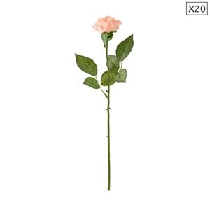 SOGA 20pcs Artificial Silk Flower Fake R