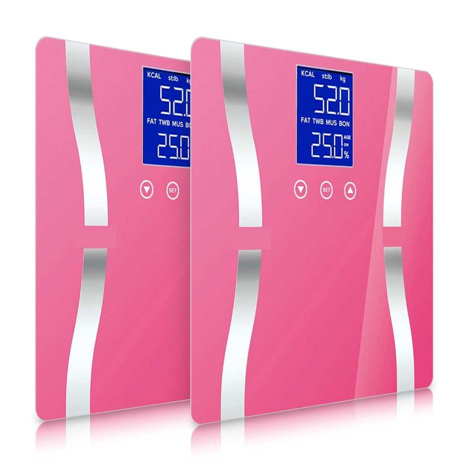 SOGA 2x Digital Body Fat Scale Bathroom Scales Weight Gym Glass Water