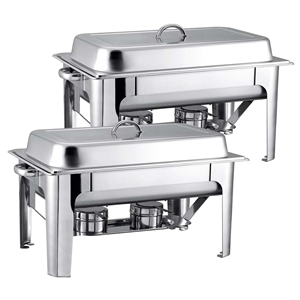 SOGA 2X 9L Stainless Steel Chafing Cater