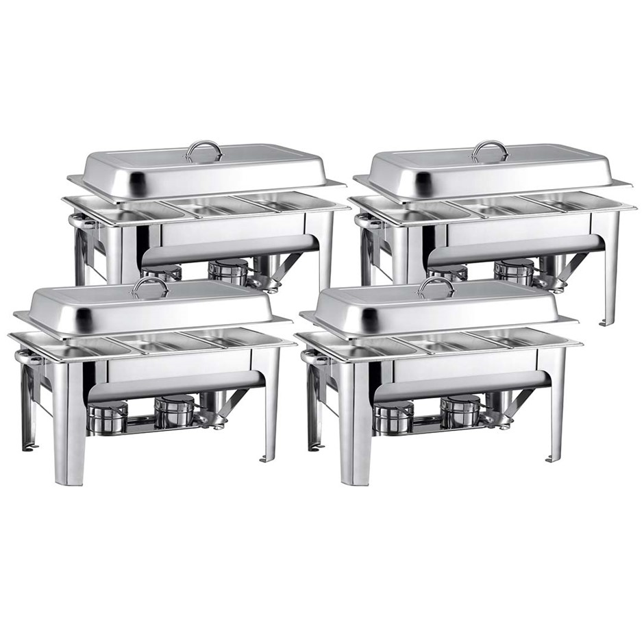 SOGA 4X 9L SS 3 Pans Bain-marie Chafing Catering Dish Buffet Food Warmer