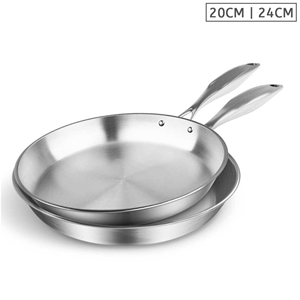 SOGA SS Fry Pan 20cm 24cm Frying Pan Top