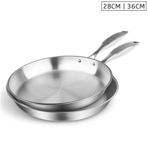 SOGA SS Fry Pan 28cm 36cm Frying Pan Top