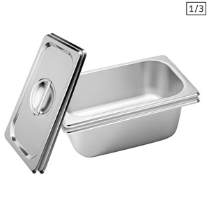 SOGA 2X Gastronorm GN Pan Full Size 1/3