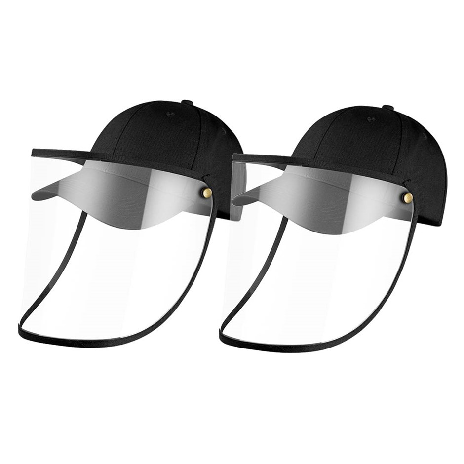 2X Outdoor Protection Hat Anti-Fog Pollution Cap Full Face HD Shield Cover
