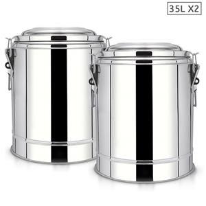 SOGA 2X 35L SS Insulated Stock Pot Dispe