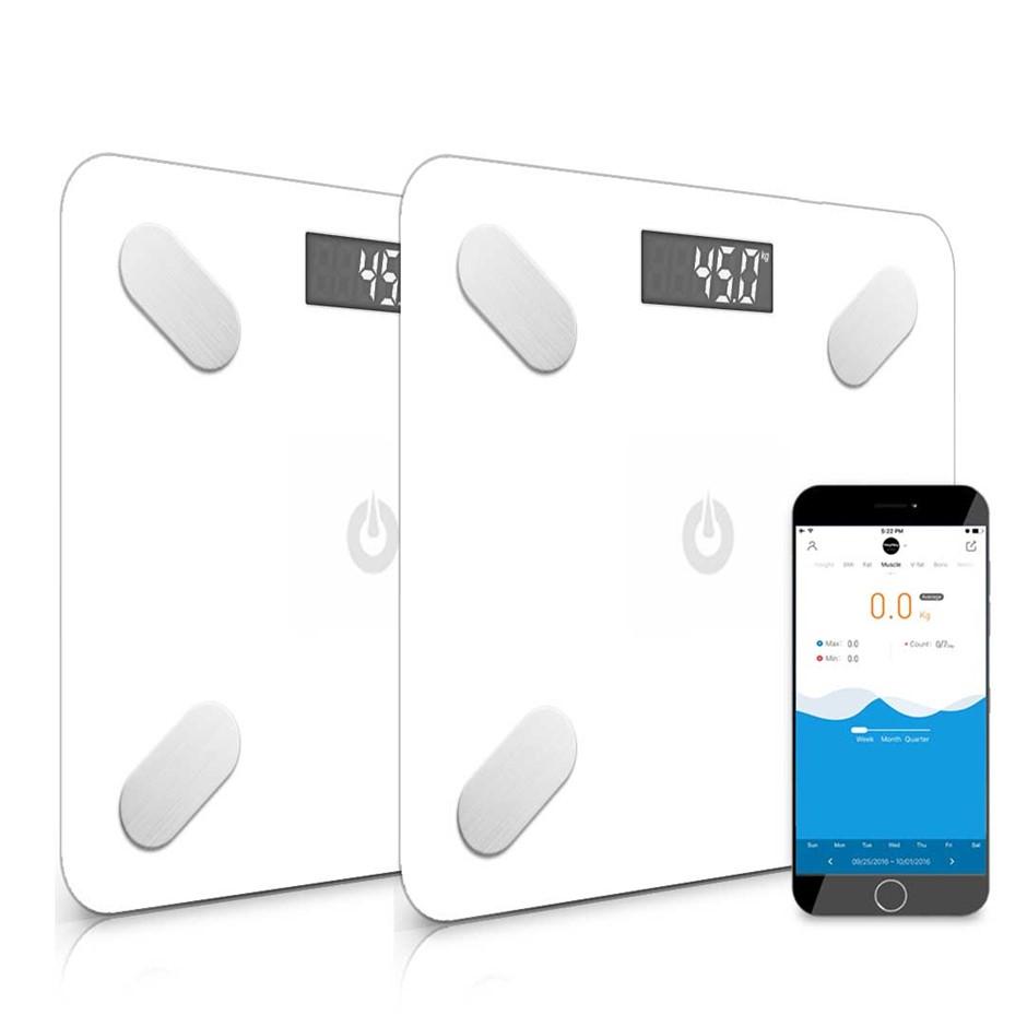 SOGA 2x Wireless tooth Digital Body Fat Scale Bathroom Analyzer Weight