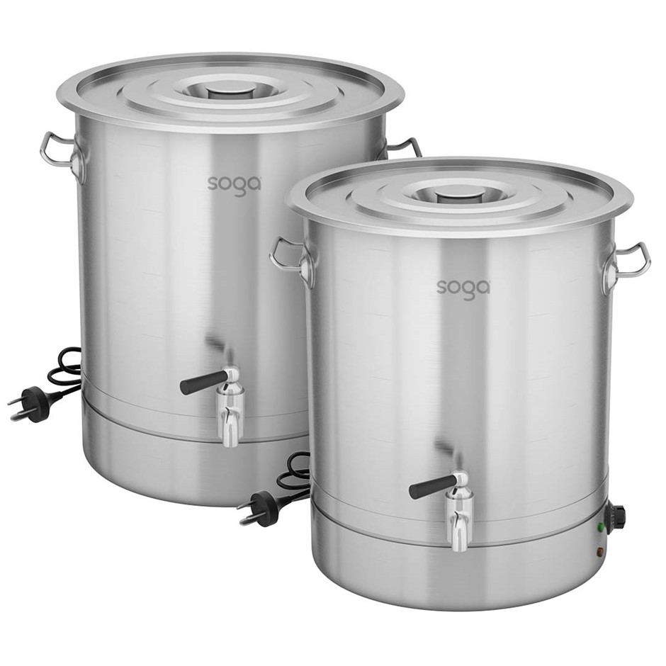 SOGA 2X 33L Stainless Steel URN Commercial Water Boiler 2200W