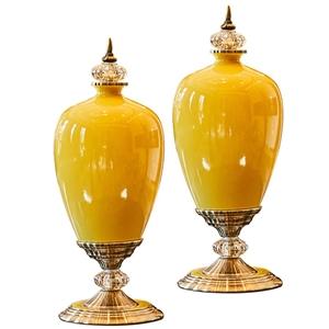 SOGA 2x 42cm Ceramic Oval Flower Vase wi
