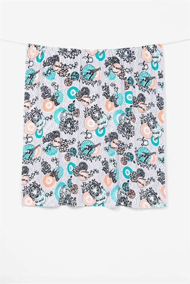 Desigual Desigual Throw Blanket Wild Throw Blanket. 100% Polyester. 150 x 1