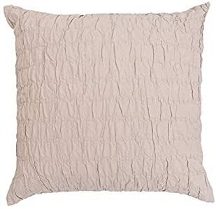 BAMBURY Amadora Square Cushion, Blush. 100% Cotton. 43 x43 cm. Buyers Note