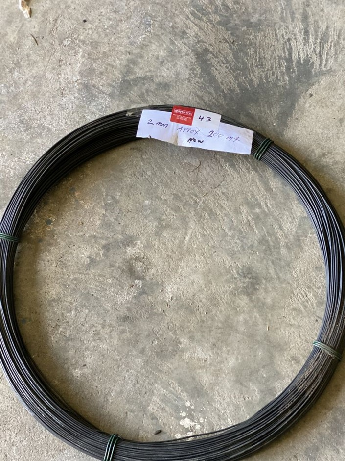 Fencing Wire - Unused 4mm Approx over 300mt (273629-43)