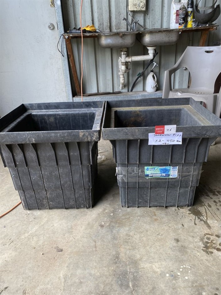 2 x Storm Water pits - Unused 450mm (273629-46)