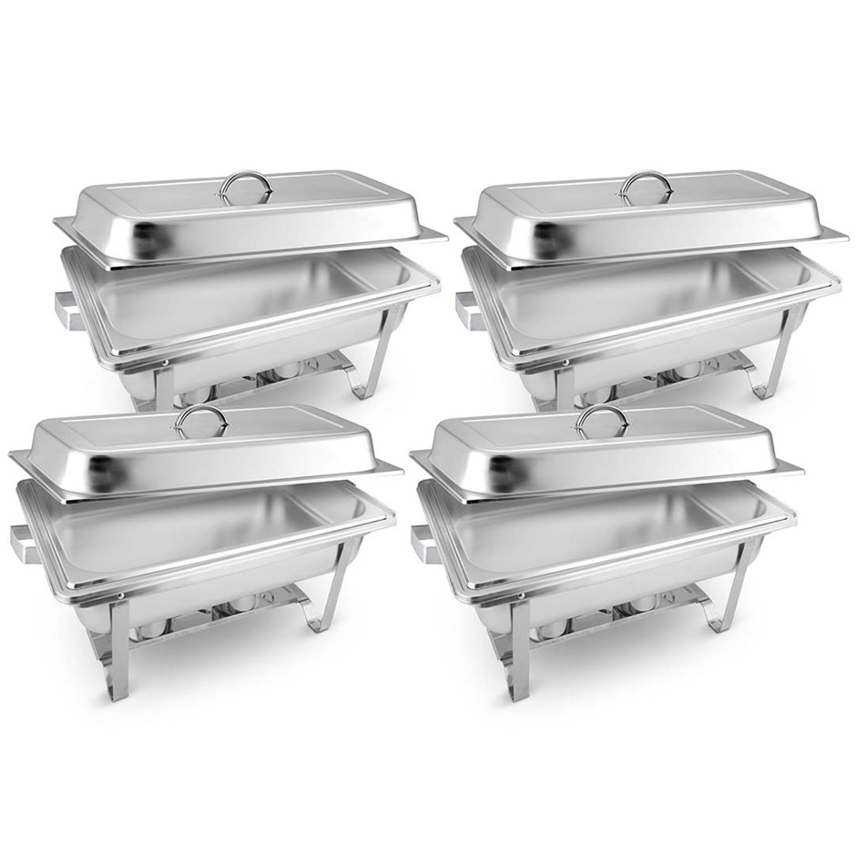 SOGA 4X Stainless Steel Chafing Food Warmer Catering Dish 9L Full Size
