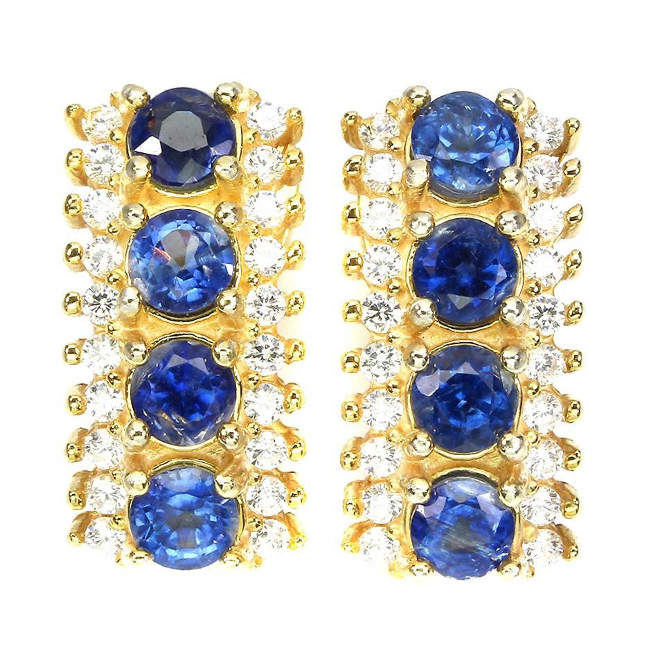 Beautiful Genuine Kyanite Huggie Earrings.