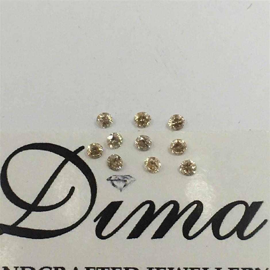 0.32ct Diamond Round Ten Stones