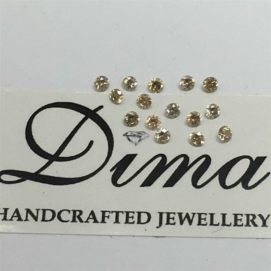 0.32ct Diamond Round Fifteen Stones