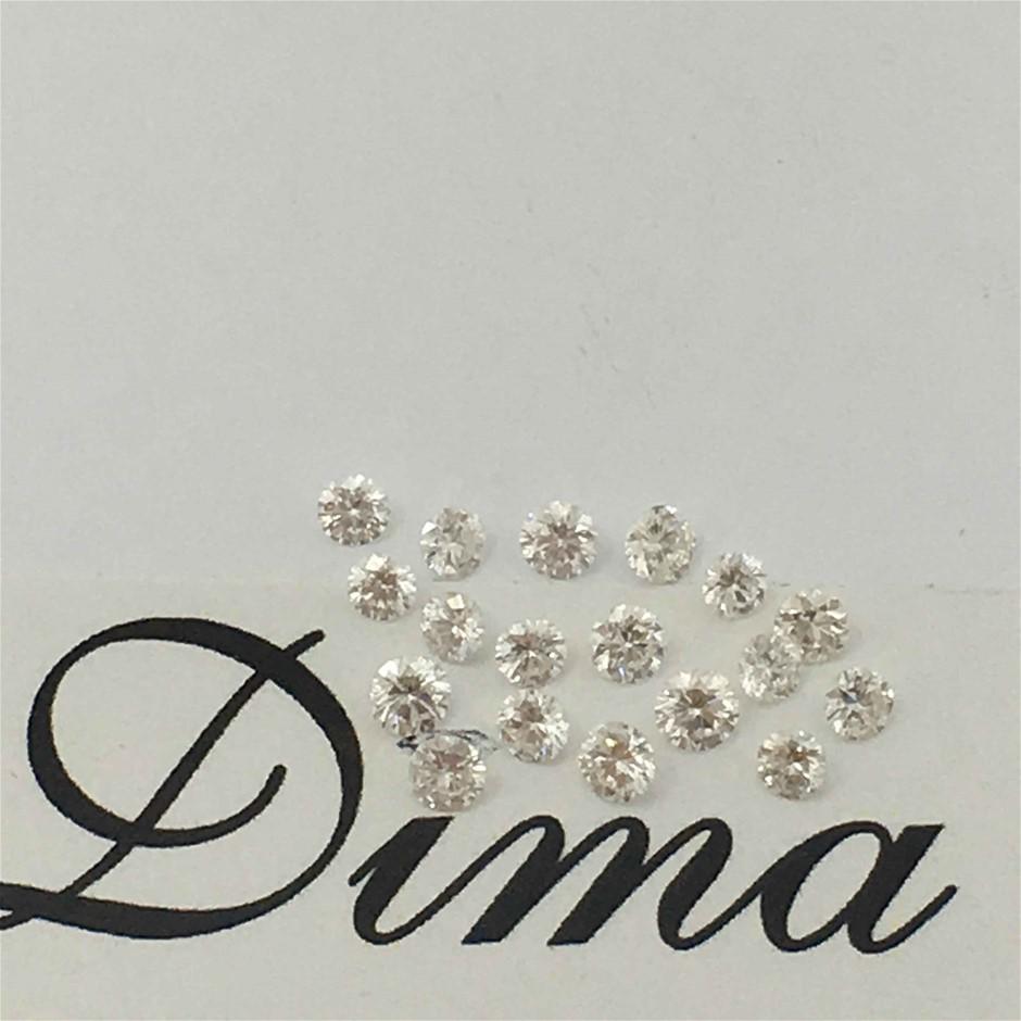 0.32ct Diamond Round Eighteen Stones
