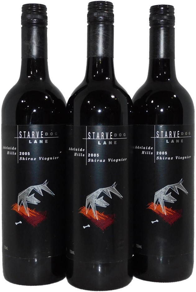 Starve Dog Lane Adelaide Hills Shiraz Viognier 2005 (3x 750mL) SA. Screwcap