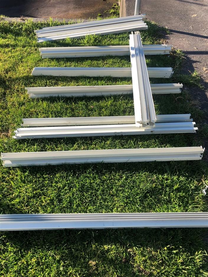 Racking/Shelving - 5 uprights, 40 beams. Makes 4 connected bays.