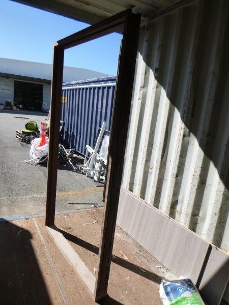 Qty 1 x Jarrah Wood Double Door Frame