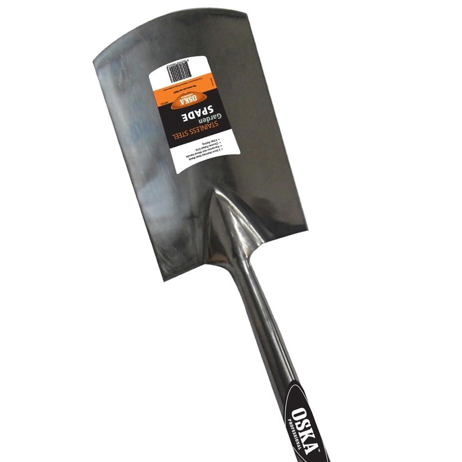 OSKA Stainless Steel Garden Spade with Ashwood Handle. (SN:9507195) (275908