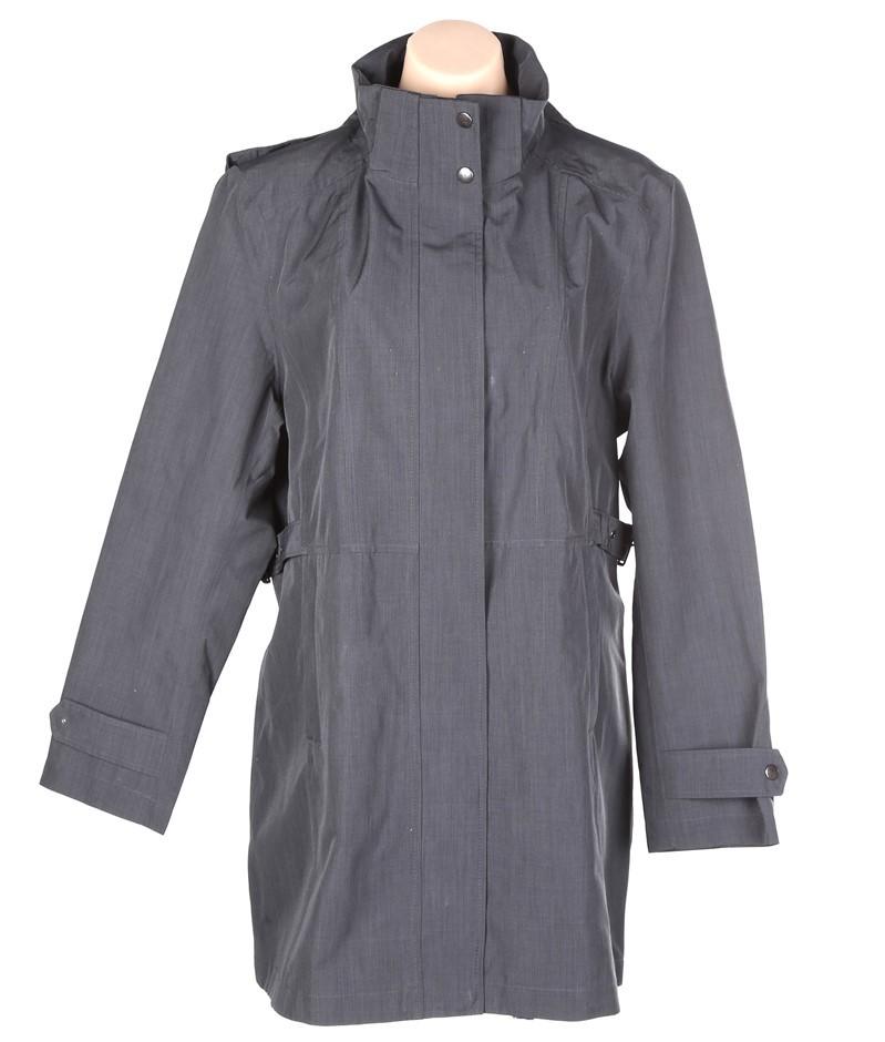 SIGNATURE Women`s Adjustable Trench Coat w/ Detachable Hood Size M, Polyest