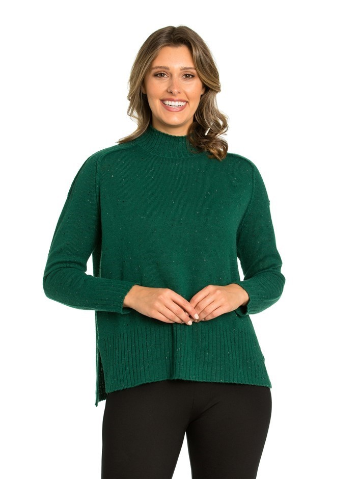 MARCO POLO Long Sleeve Fleck Sweater. Size M, Colour: Evergreen. Buyers Not