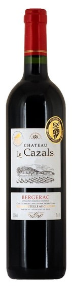 AOC Bergerac Rouge Chateau Le Cazals 2018 (6 x 750mL) France