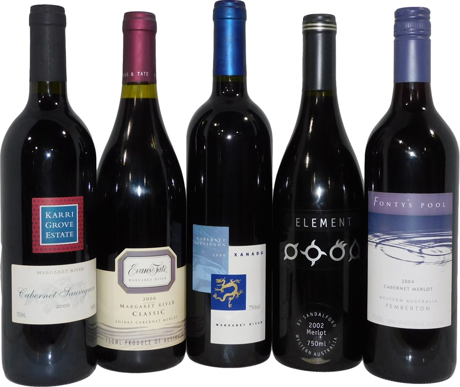 West Australian Red Wine Mixed Pack (5x 750mL)