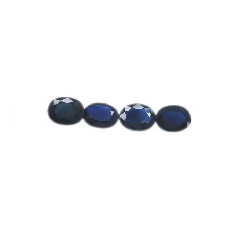Four Loose Oval Shaped Blue Sapphires 9.15ct
