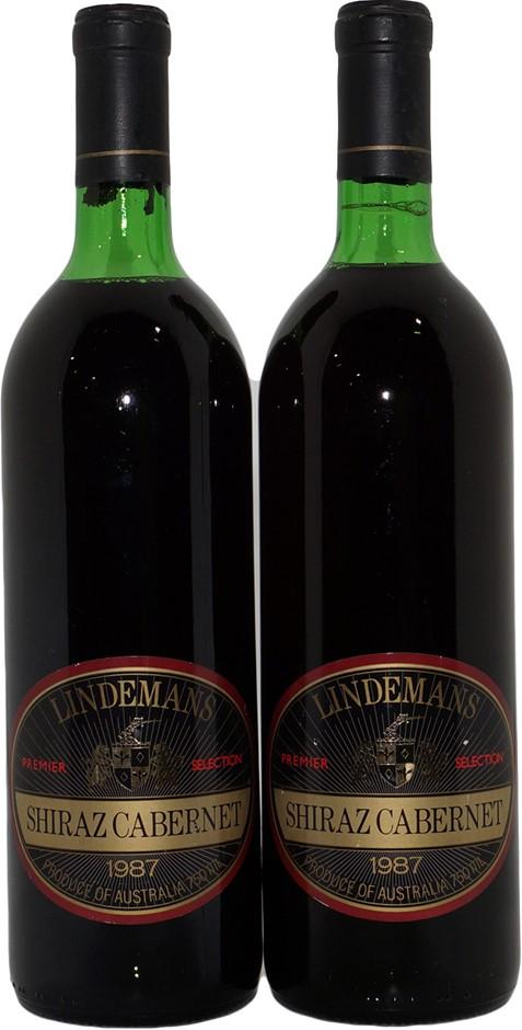 Lindemans Premier Selection Shiraz Cabernet 1987 (2x 750mL), VIC.