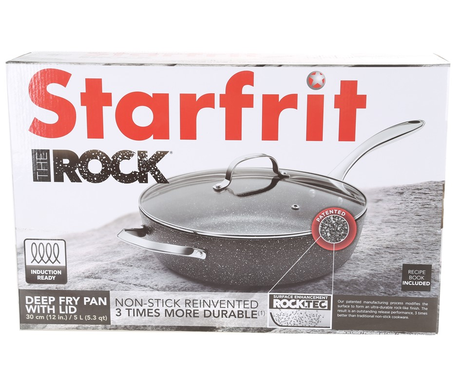 STARFRIT The Rock 30cm Deep Fry Pan with Lid 5L. (SN:CC14595) (273769-21)