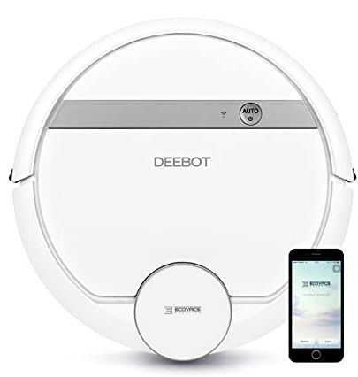 ECOVACS DEEBOT OZM0900 Robotic Vacuum Cleaner with Mopping System, White. N