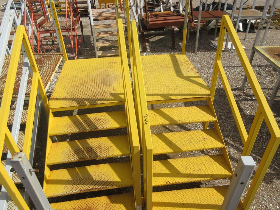 2x Steel Access Stairs